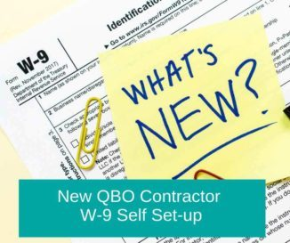 QuickBooks Training – New QBO Contractor W-9 Self Set-up