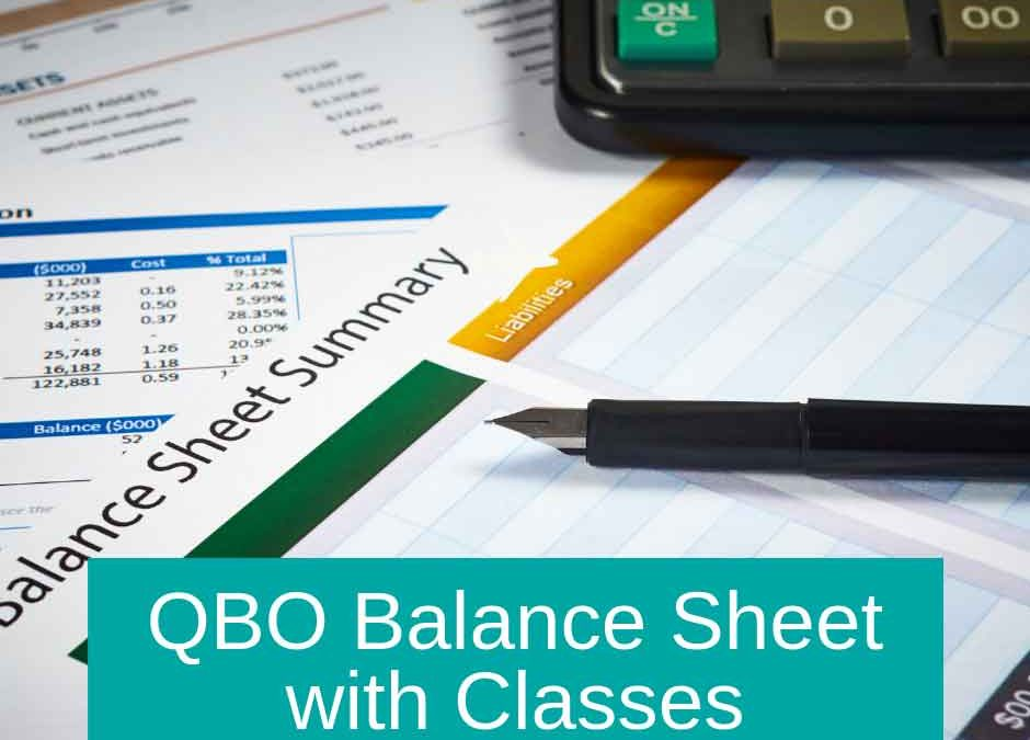 QBO Balance Sheet with Classes