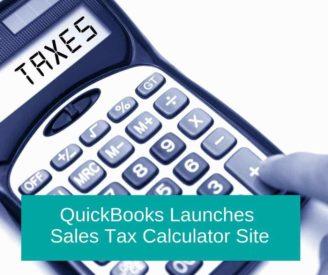 QuickBooks Launches Sales Tax Calculator Site