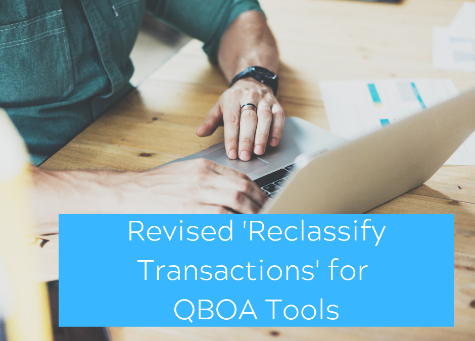 Revised 'Reclassify Transactions' feature for QBO-Accountant Tools