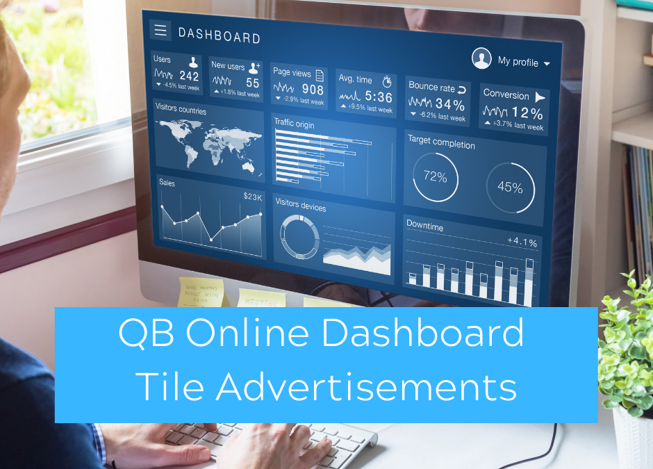 QuickBooks Online Dashboard Tile Advertisements