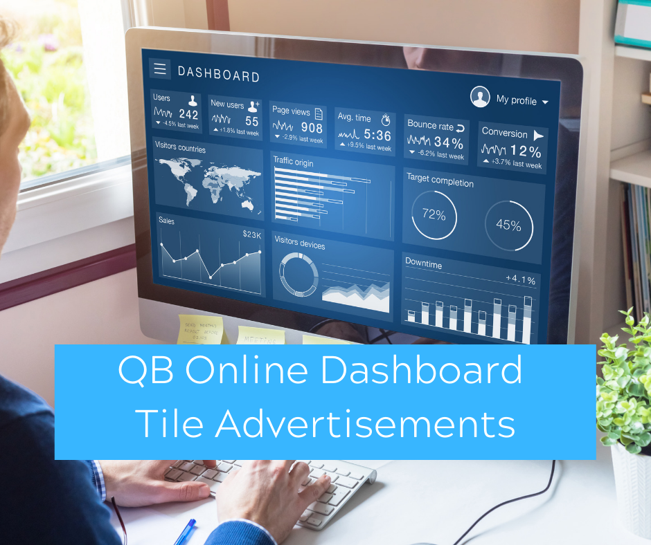 QuickBooks Online Dashboard Tile Advertisements