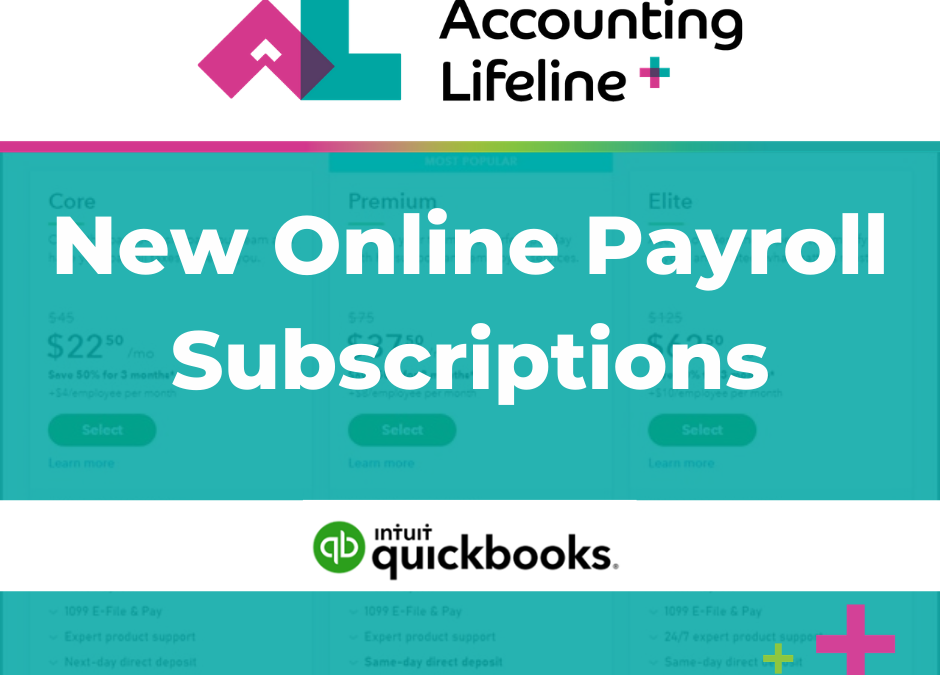 New Online Payroll Subscriptions